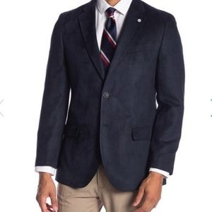 NAUTICA front two button solid sport coat 40S navy